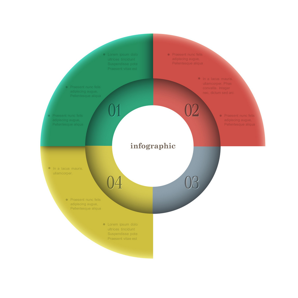 Creative Round Design Template For Infographics
