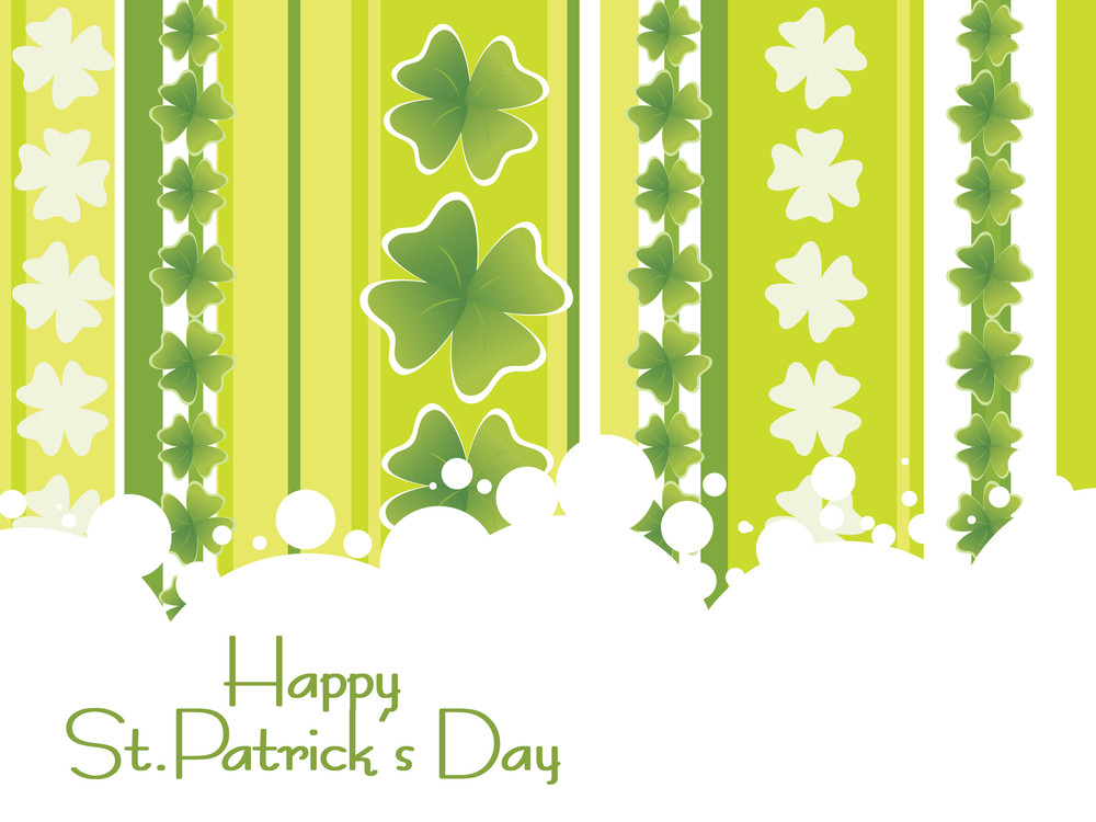 Creative Shamrock Background For 17 March