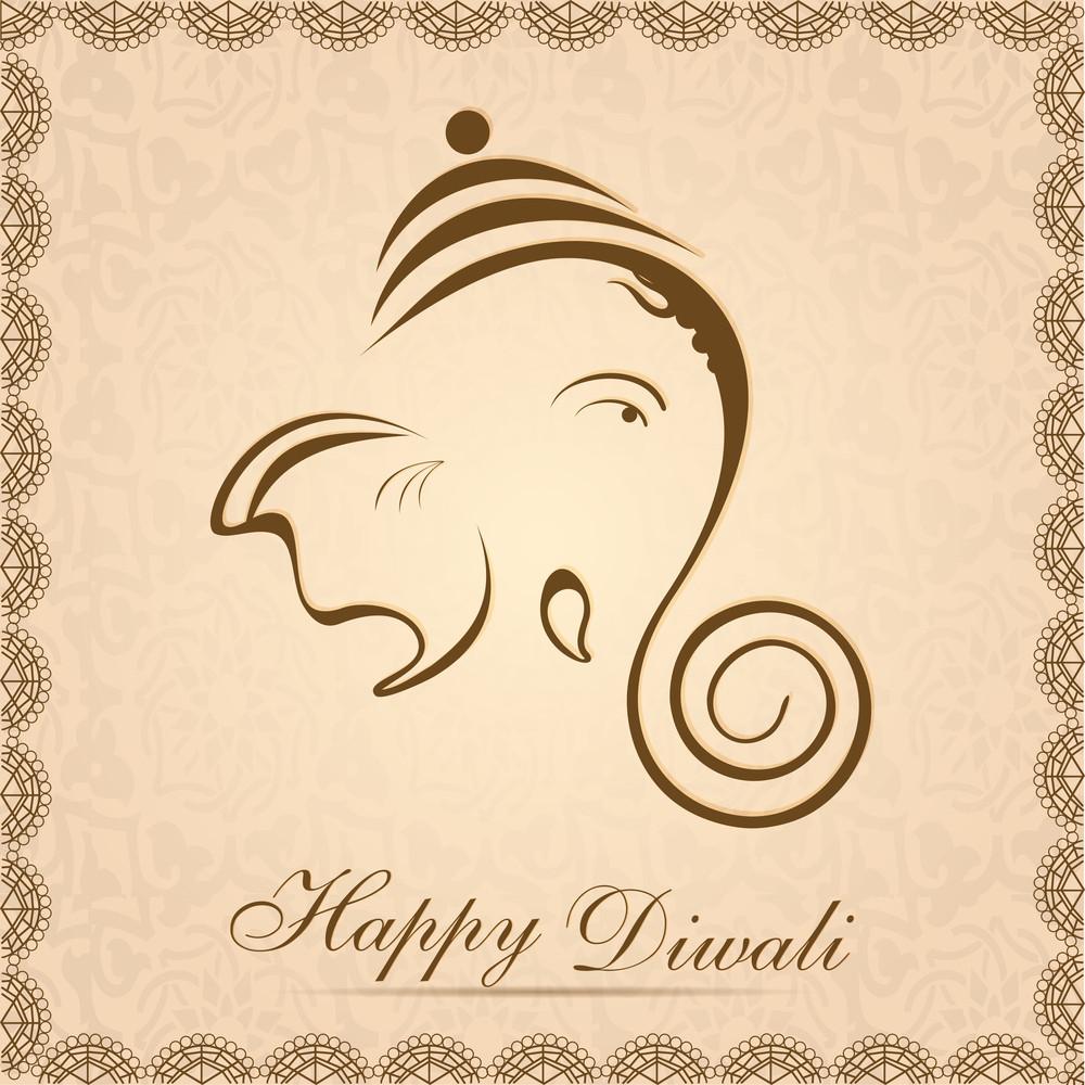 Creative Shiny Illustration Of Hindu Lord Ganesha 10