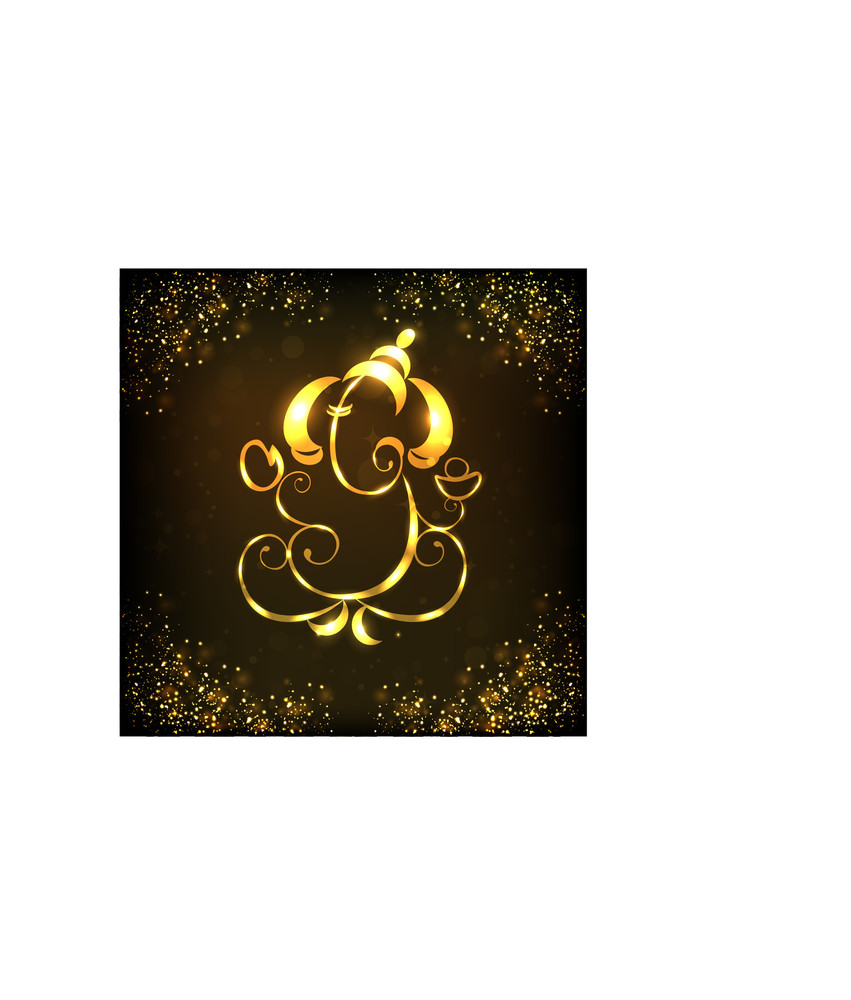 Creative Shiny Illustration Of Hindu Lord Ganesha.