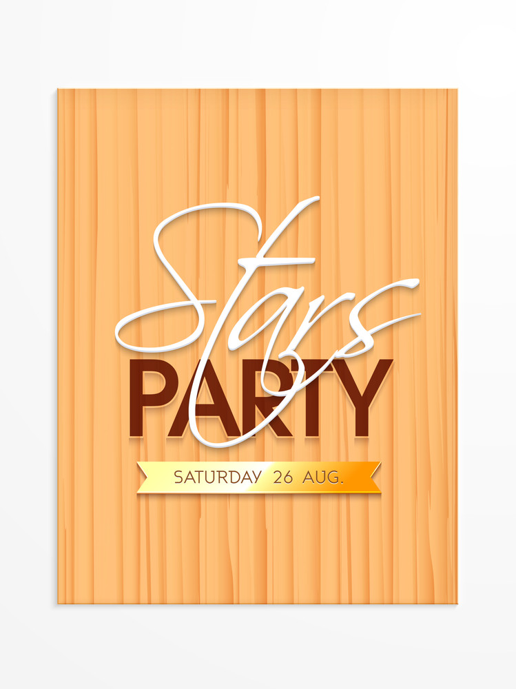 Creative Stars Party Invitation Card Design With Date Can Be