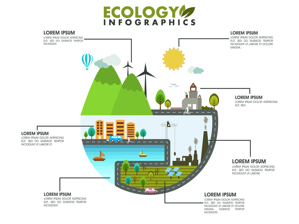 Creative stylish save ecological infographic layout for your print