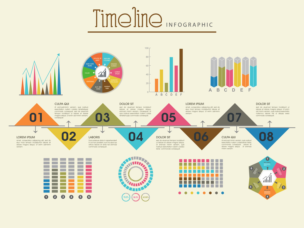 Creative Timeline Infographic Template Layout With Various - Free timeline infographic template