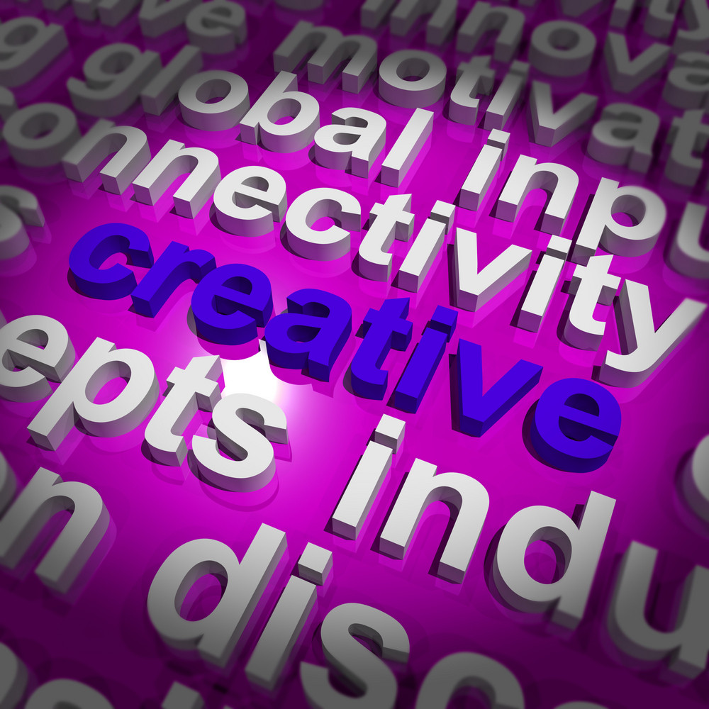 Creative Word Representing Innovative Ideas And Imagination