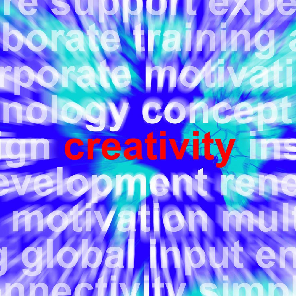 Creativity Word Representing Innovative Ideas And Imagination