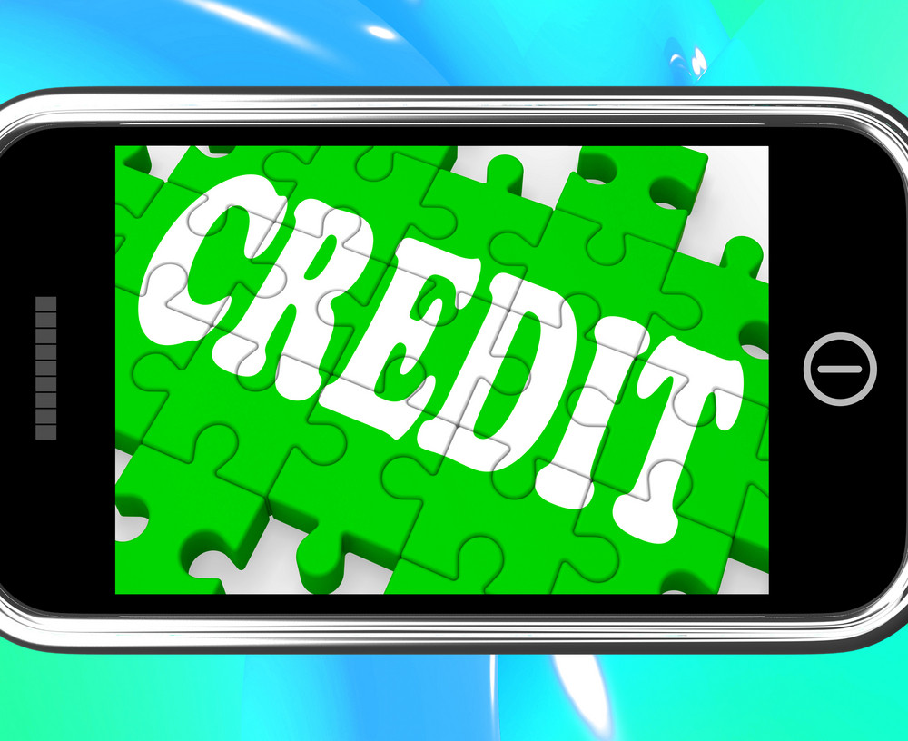 Credit On Smartphone Shows Money Loan
