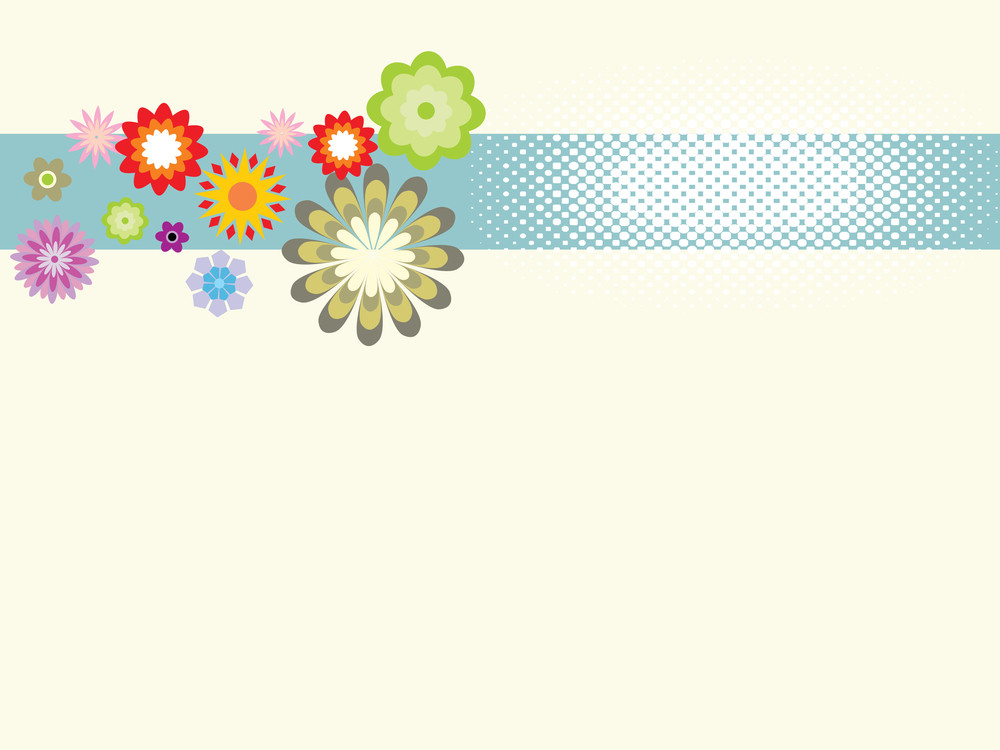 Creme Background With Flower