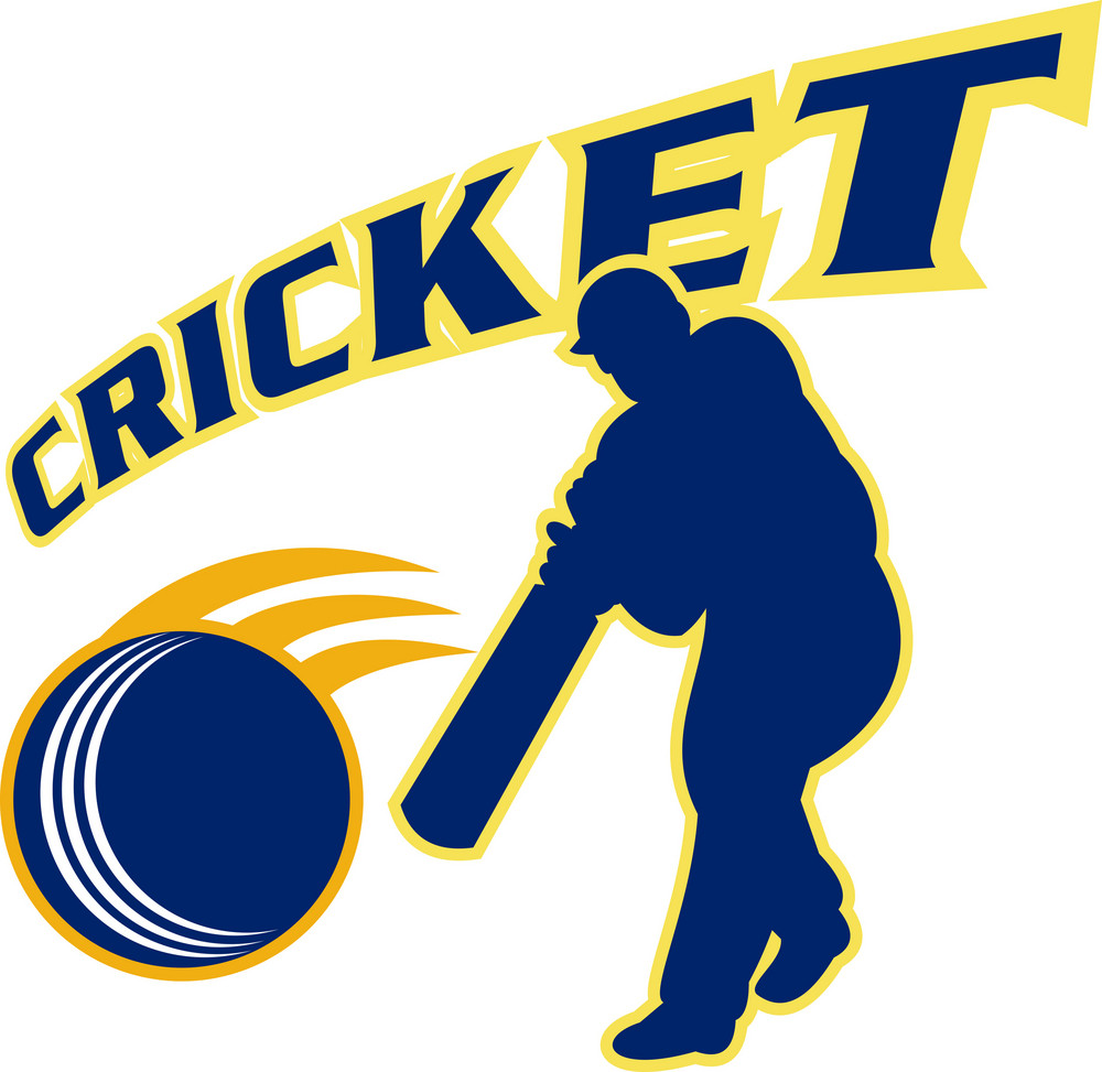 Cricket Batsman Batting Ball