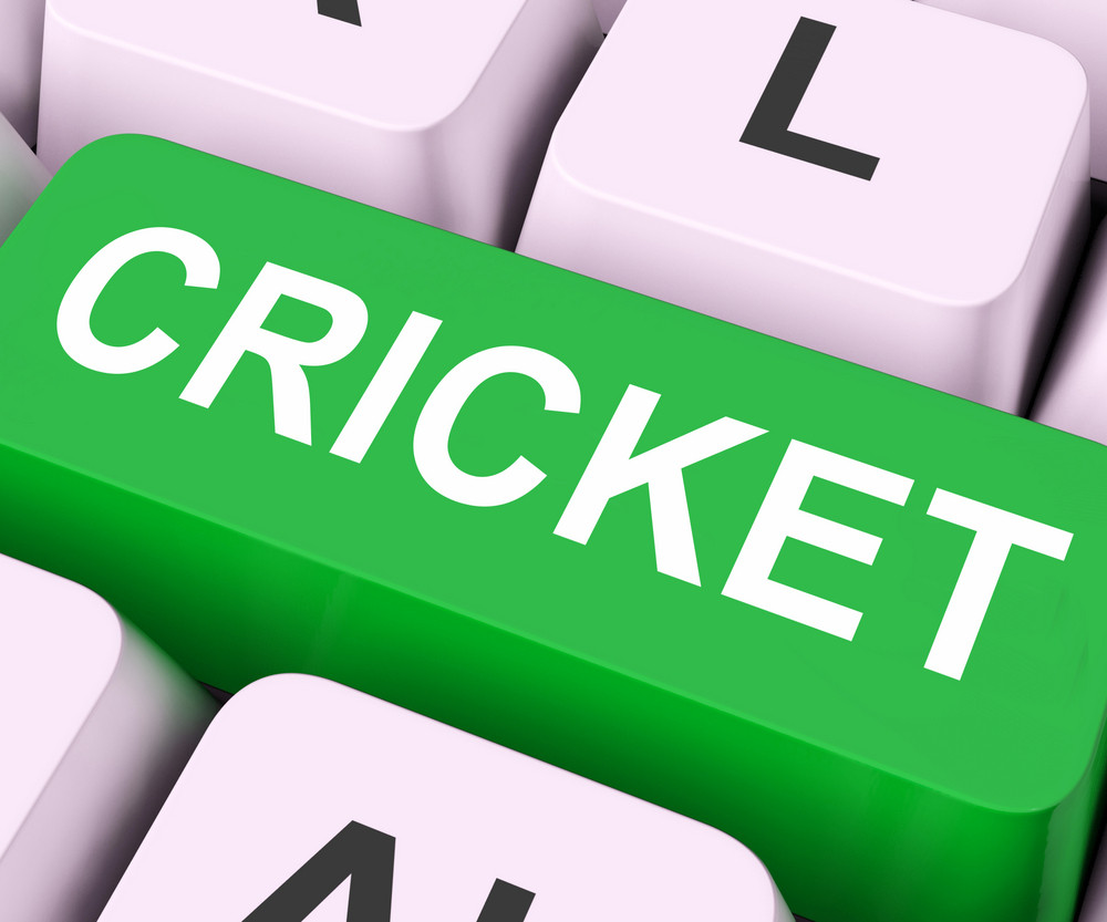 Cricket Key Means Sport Or Match