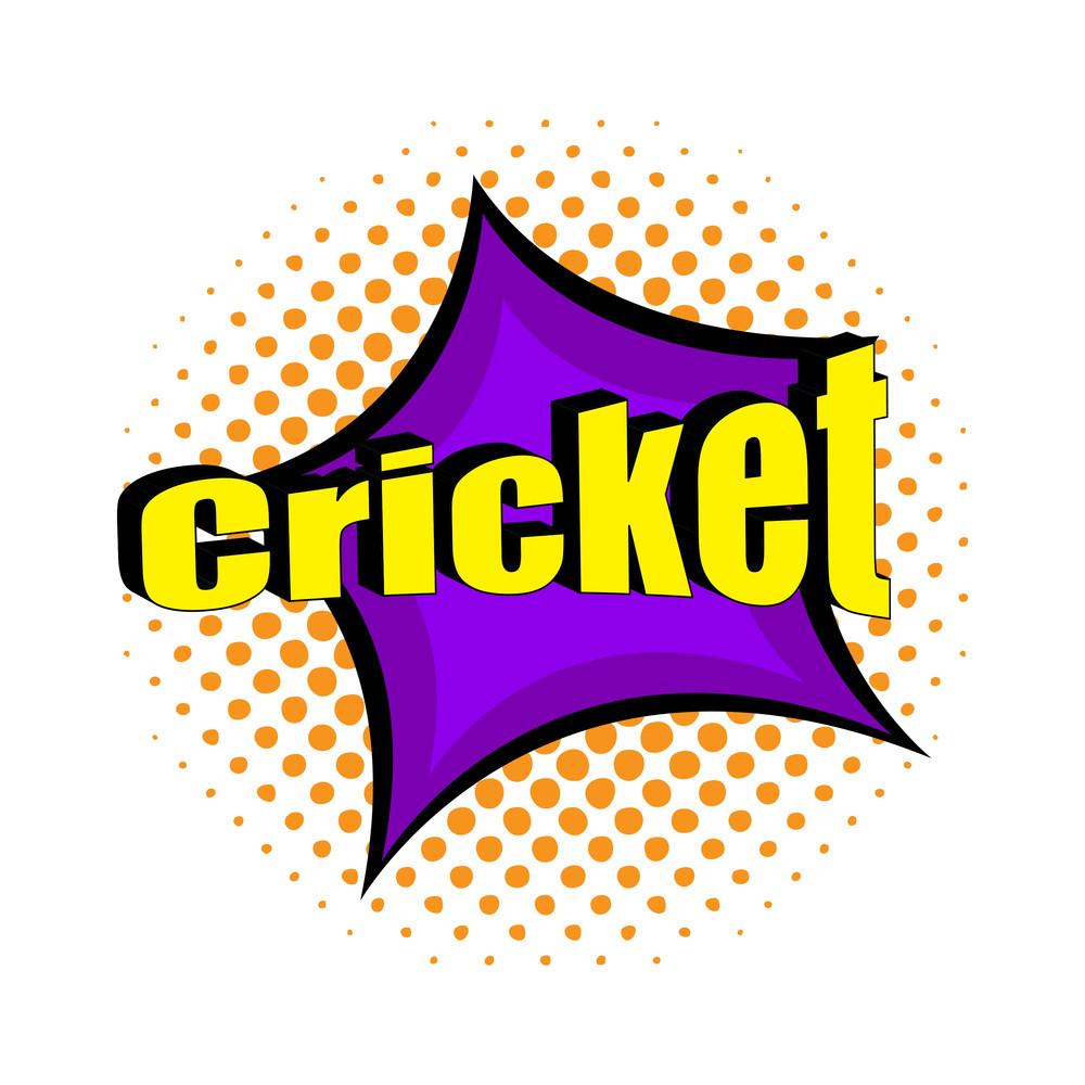 Cricket Retro Halftone Text Banner