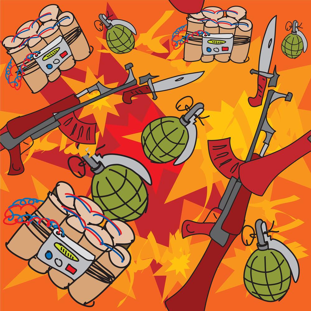 Criminal, War, Terrorism Tiled Background