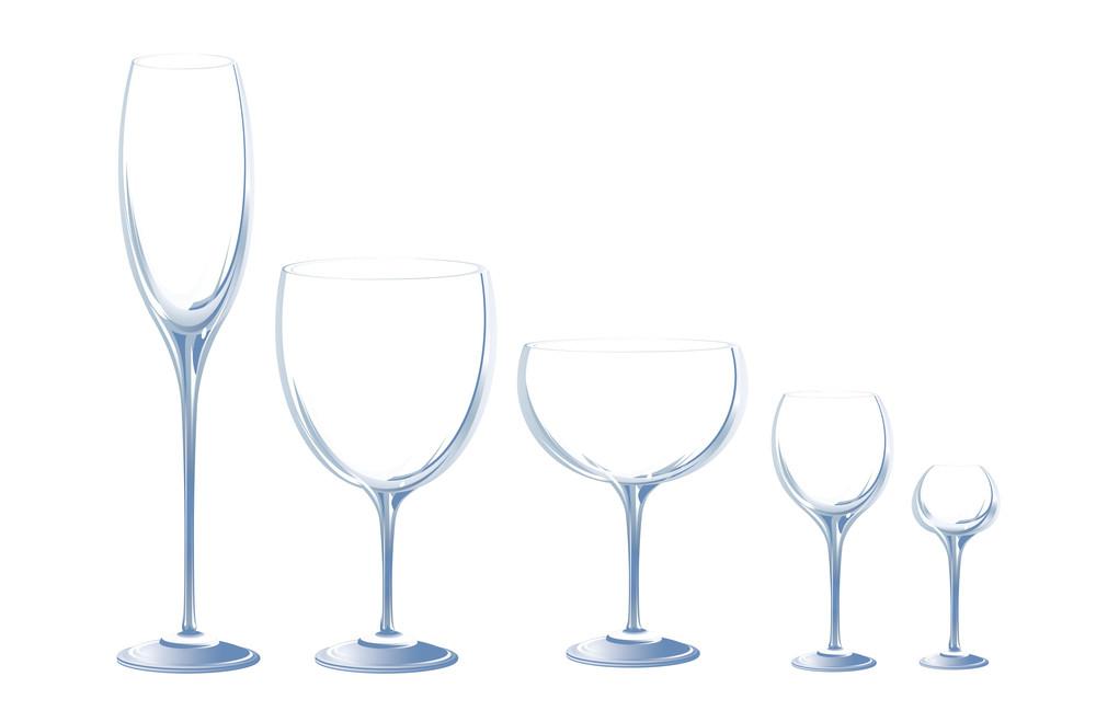 Cristal Glasses. Vector