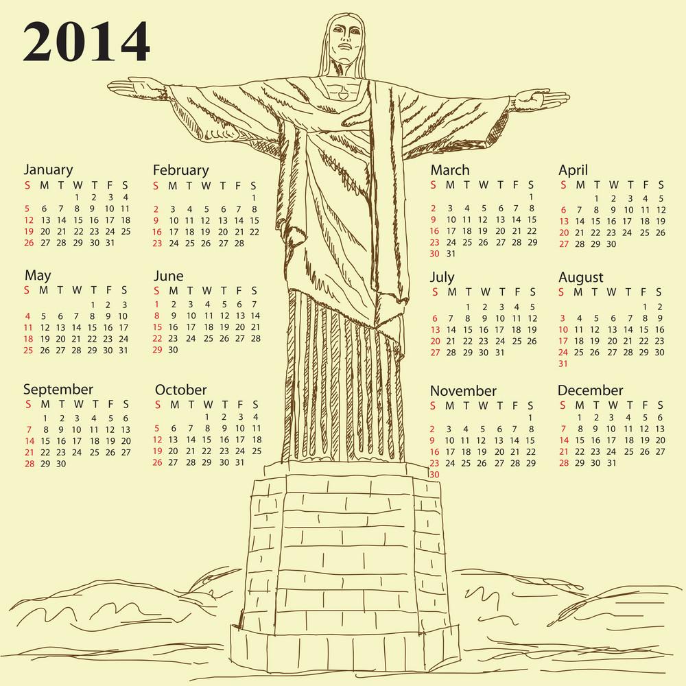 Cristo Redentor 2014 Calendar 2