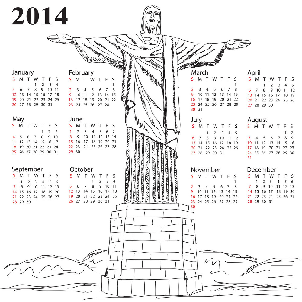 Cristo Redentor 2014 Calendar