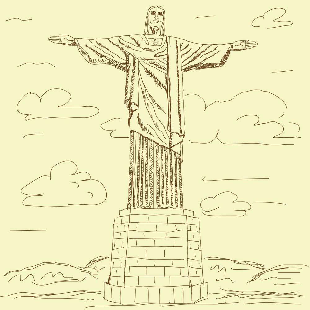 Cristo Redentor Vintage