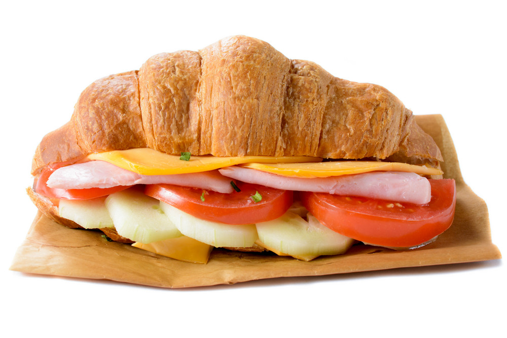Croissants Sandwich Isolated