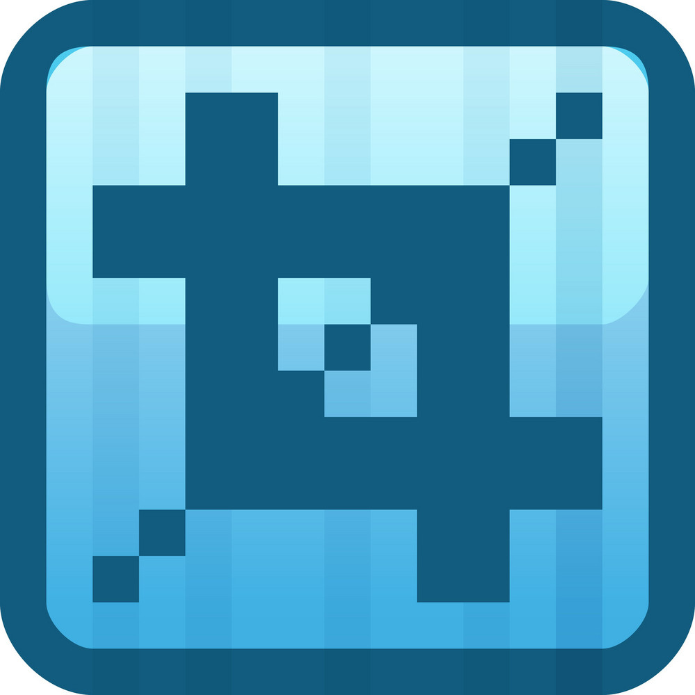 Crop Blue Tiny App Icon