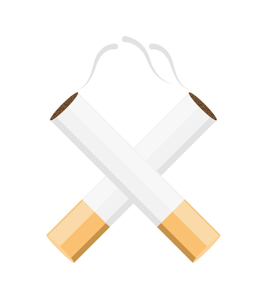 Cross Cigarettes Vector