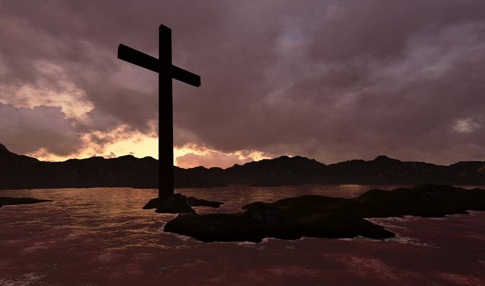 Cross In Water