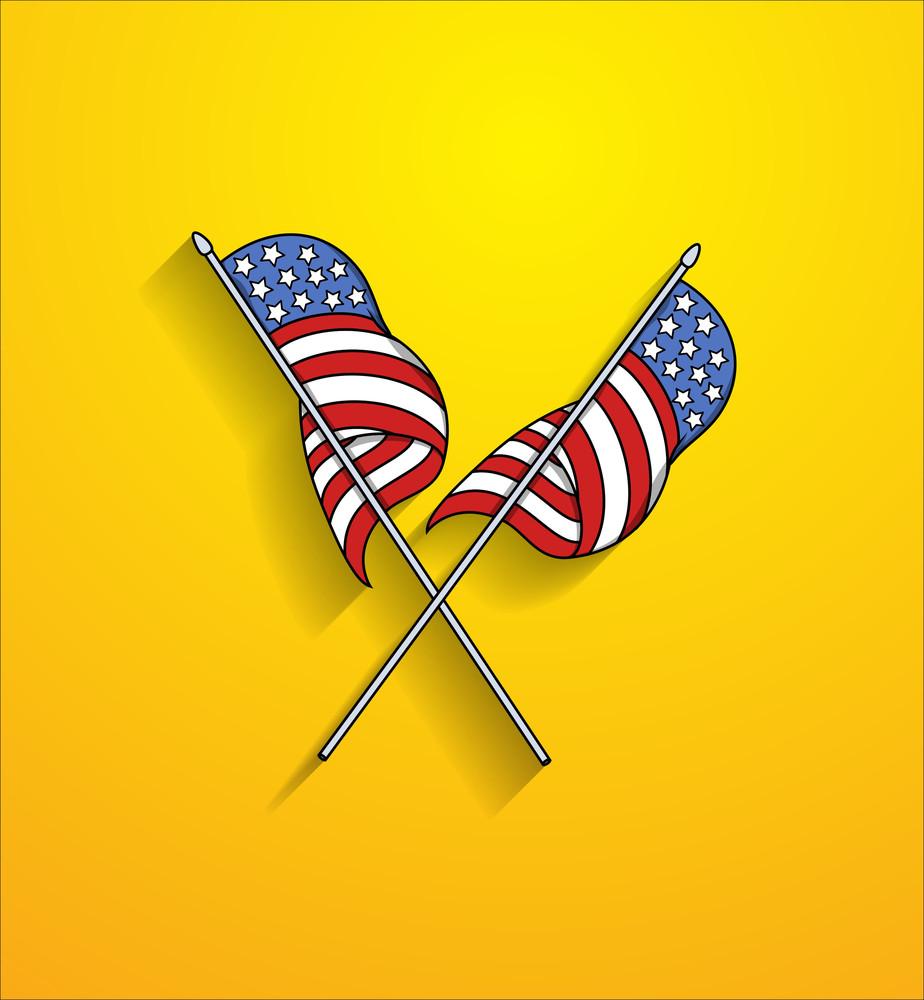 Cross Usa Flags