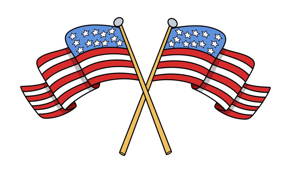crossed flags of usa vector royalty free stock image storyblocks rh storyblocks com American Flag Banner Clip Art American Flag Bow Clip Art
