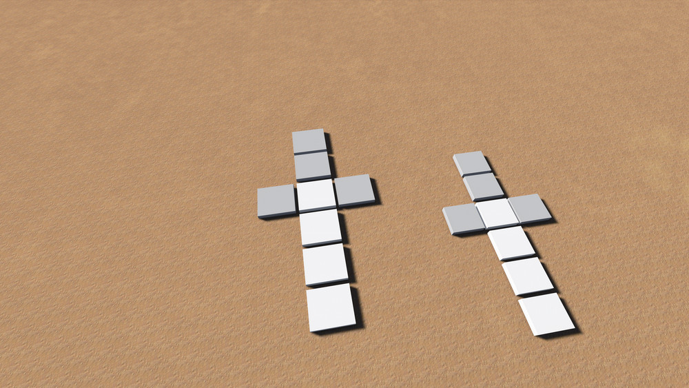 Crosses At Sand