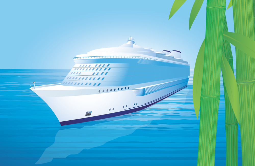Cruise Liner. Vector Illustration.
