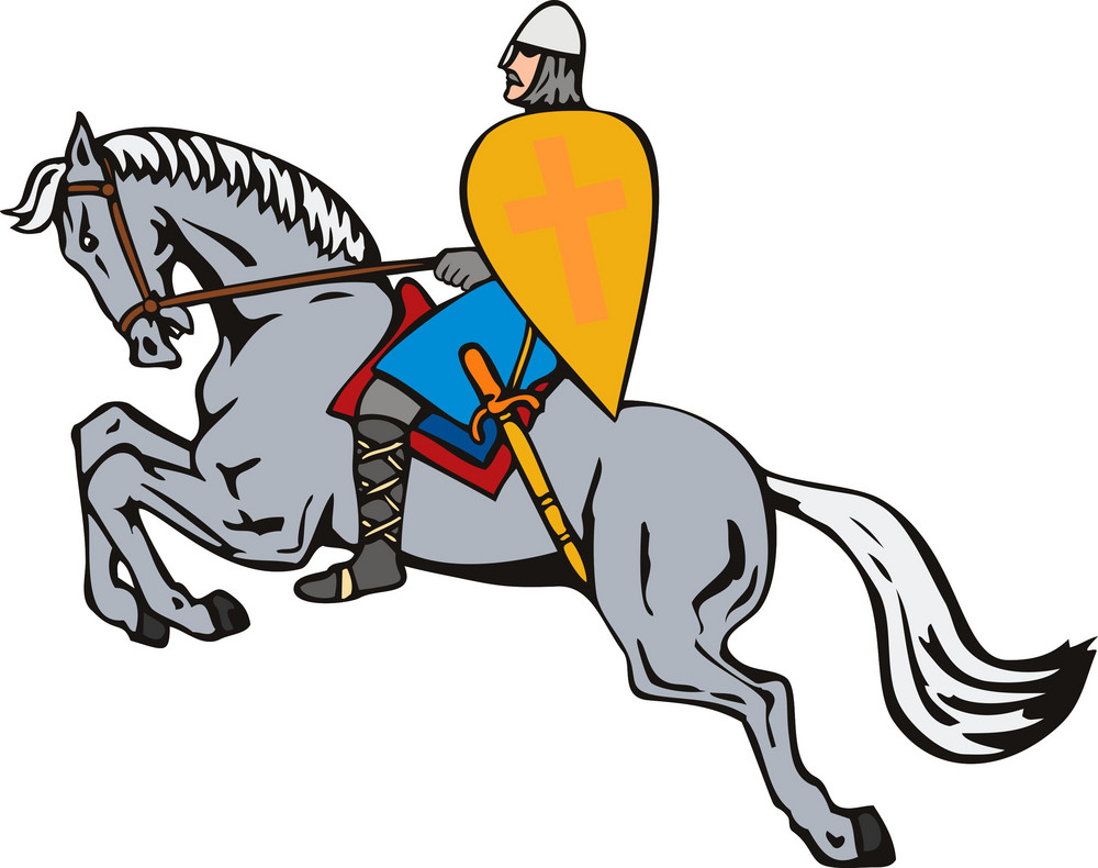 Crusader On Horse