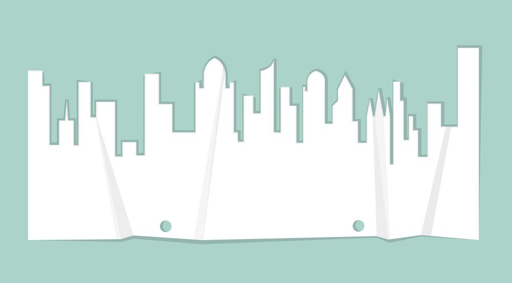 Crush Paper Skyline