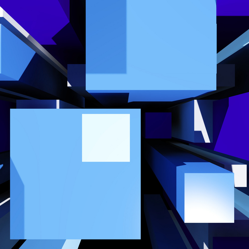 Cubes Background Showing Futuristic Perspective