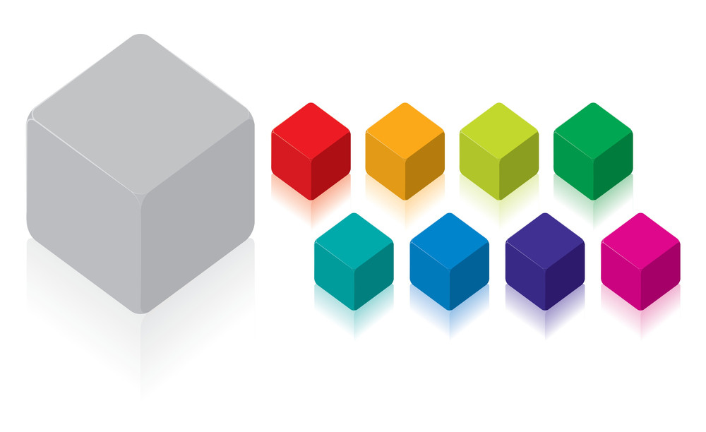 Cubes. Vector.