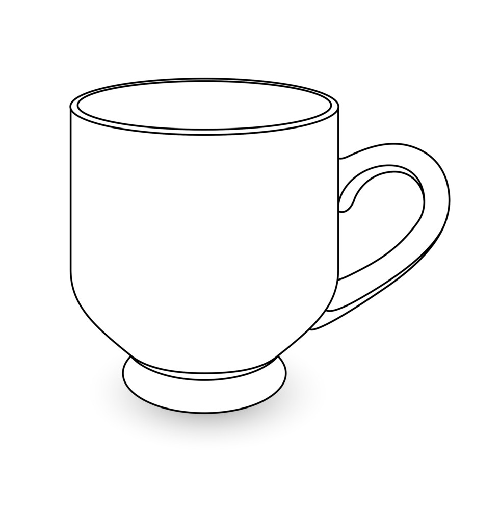 Cup Drawing Royalty-Free Stock Image - Storyblocks