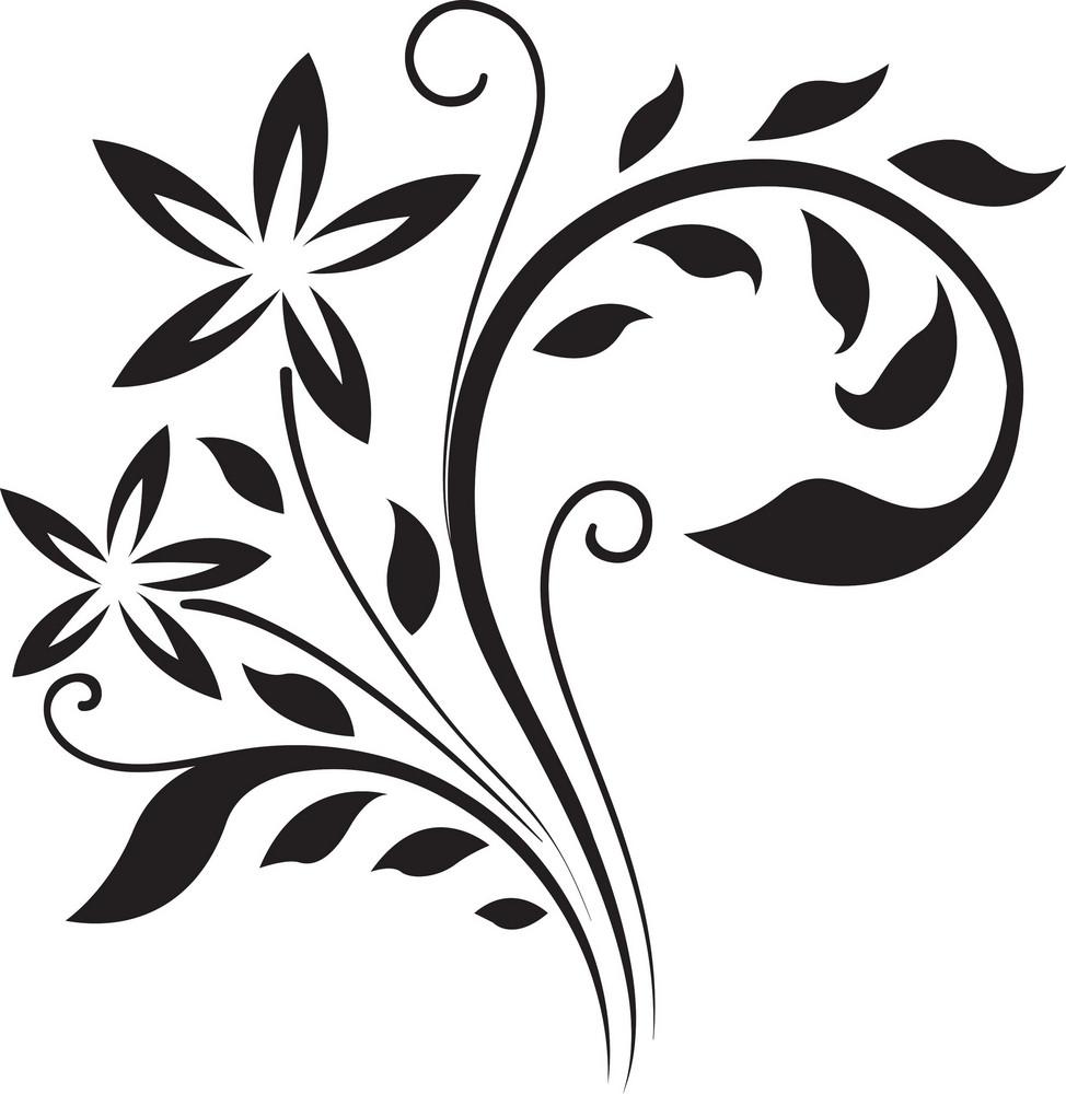 Curl Floral Vector Element