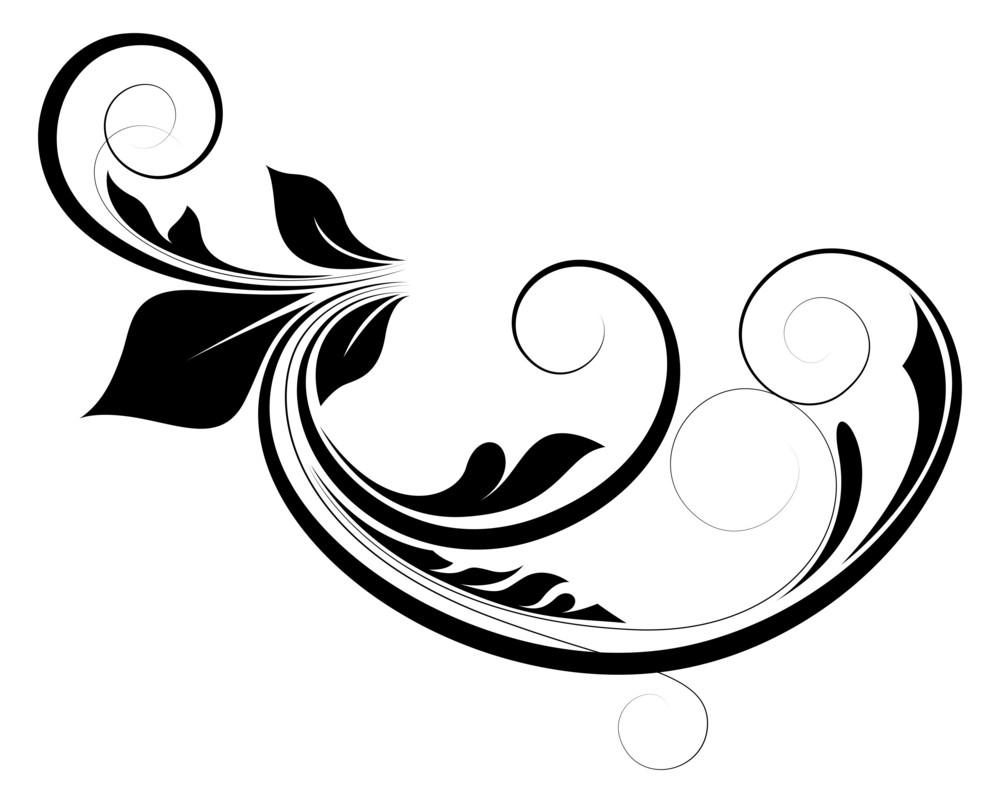 Curly Floral Design