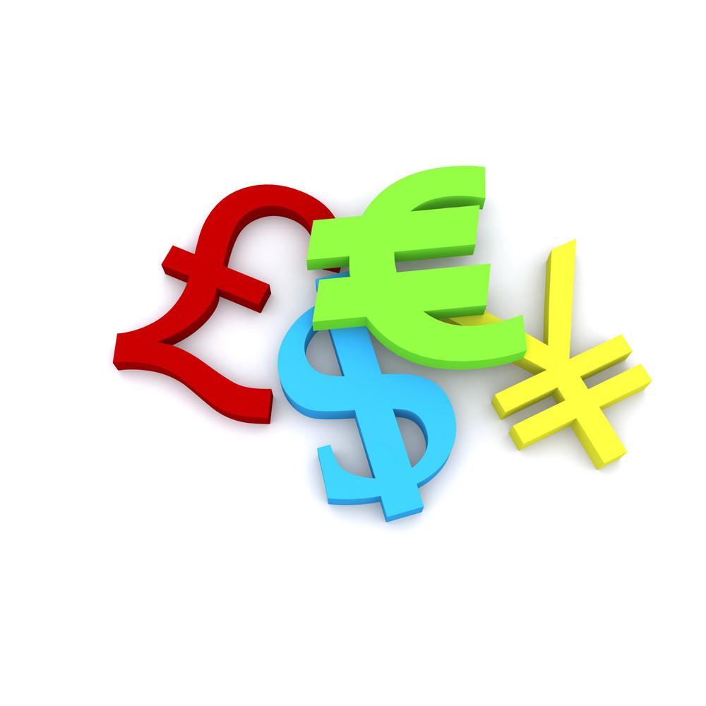 Currency 3d Symbols