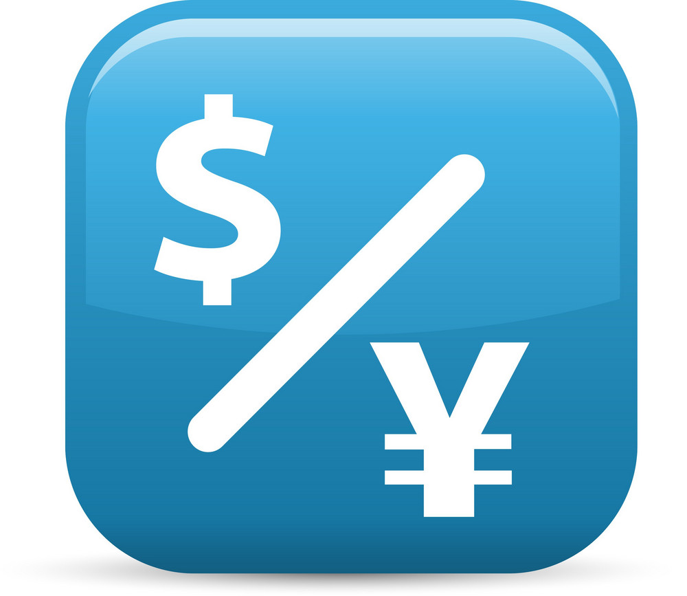 Currency Exchange Elements Glossy Icon