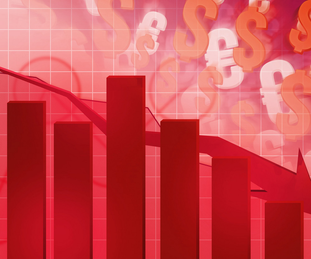Currency Fall Business Backdrop