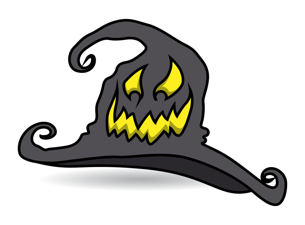 Cursed Witch Hat - Halloween Vector Illustration