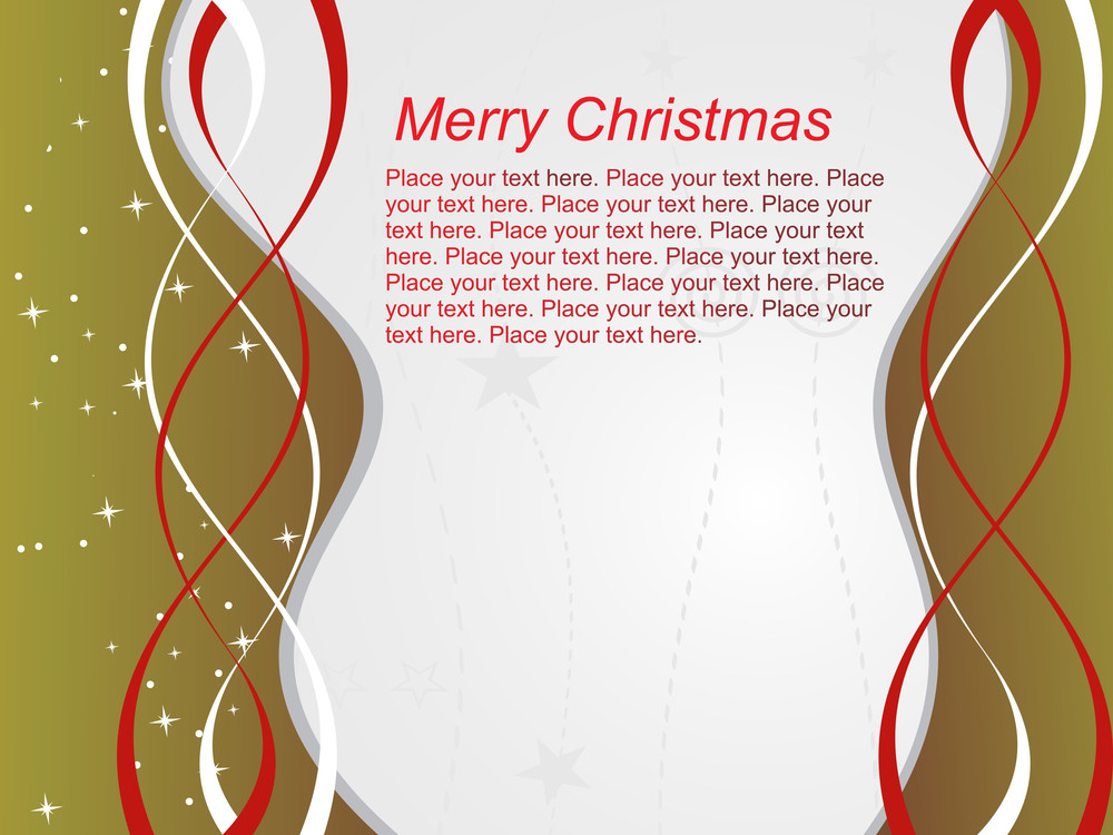 Curve Line Merry Xmas Background