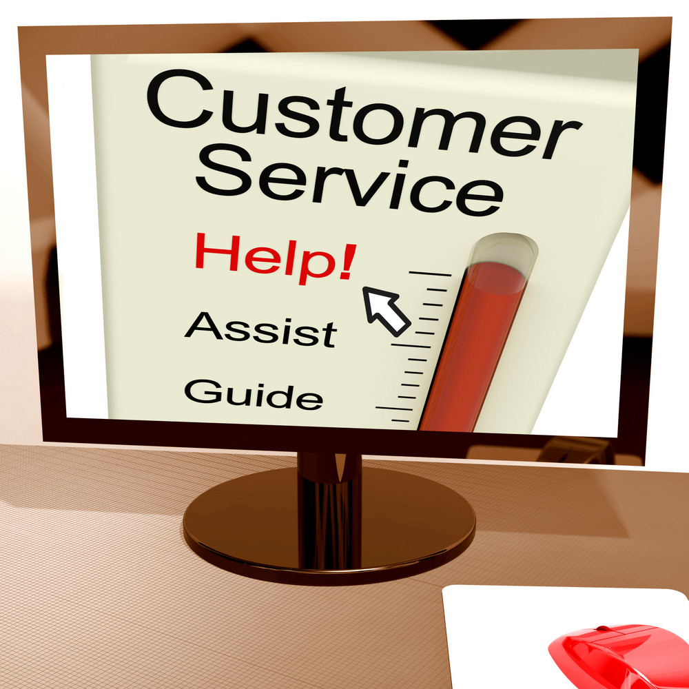Customer Service Help Meter Shows Assistance And Support Online