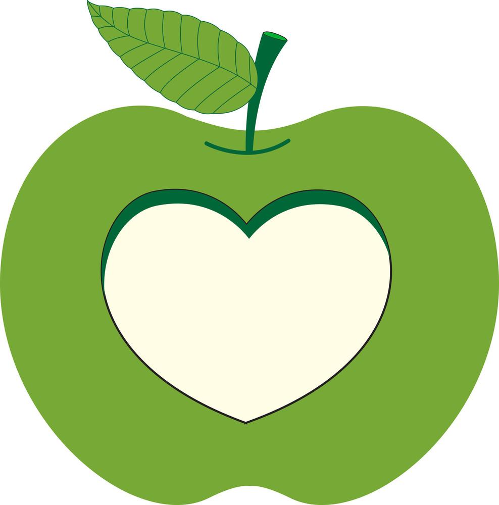 Cut Heart Shape From Apple