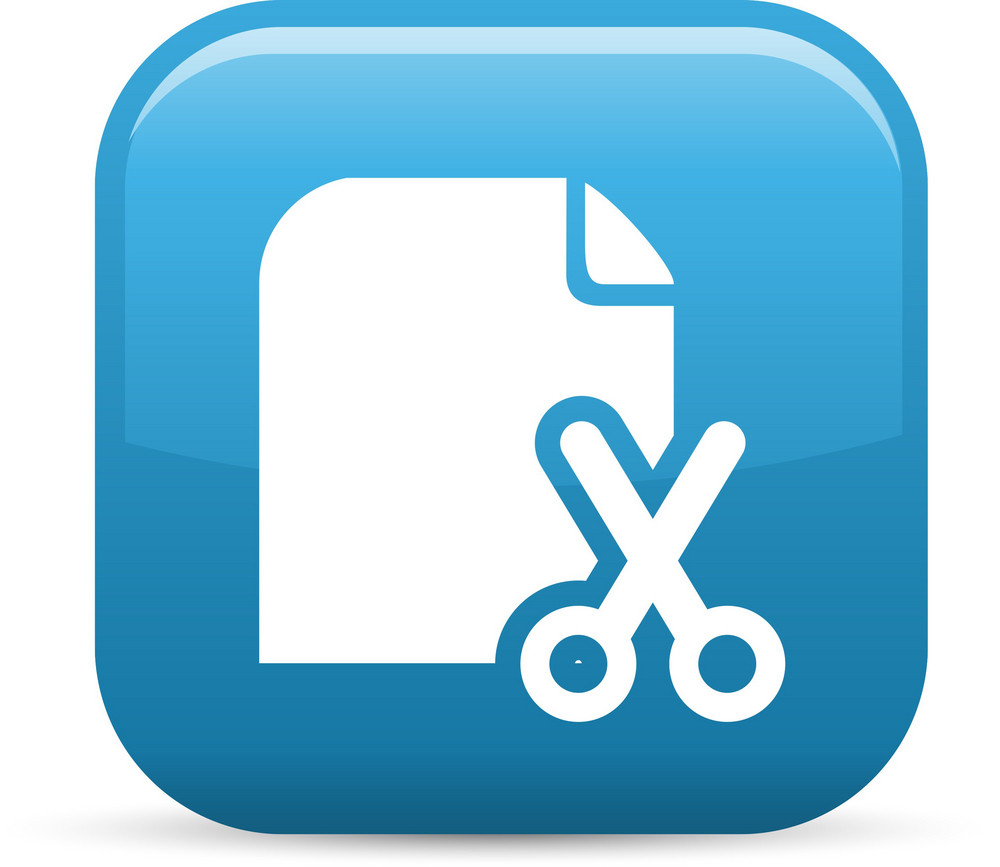 Cut Paper Elements Glossy Icon