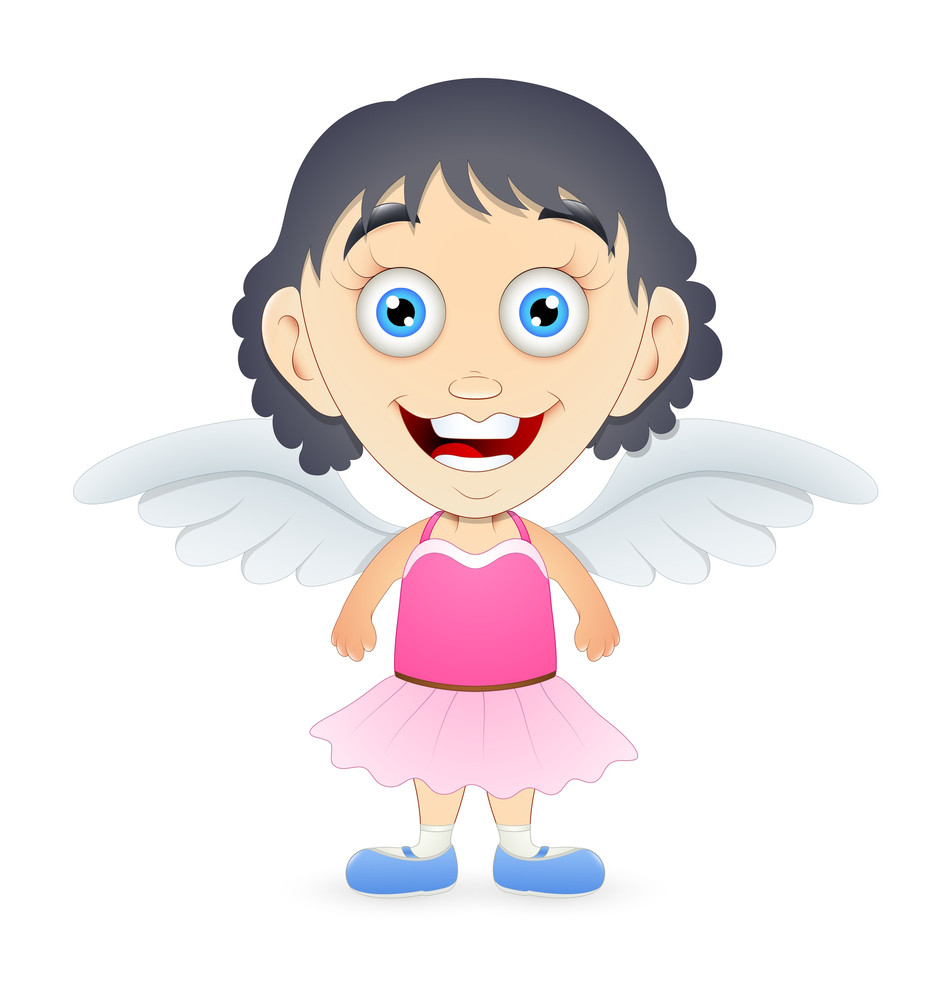 Cute Cartoon Angel Girl