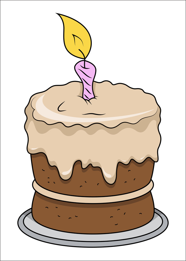 Birthday Cake Vector Royalty Free Stock Image Storyblocks Images