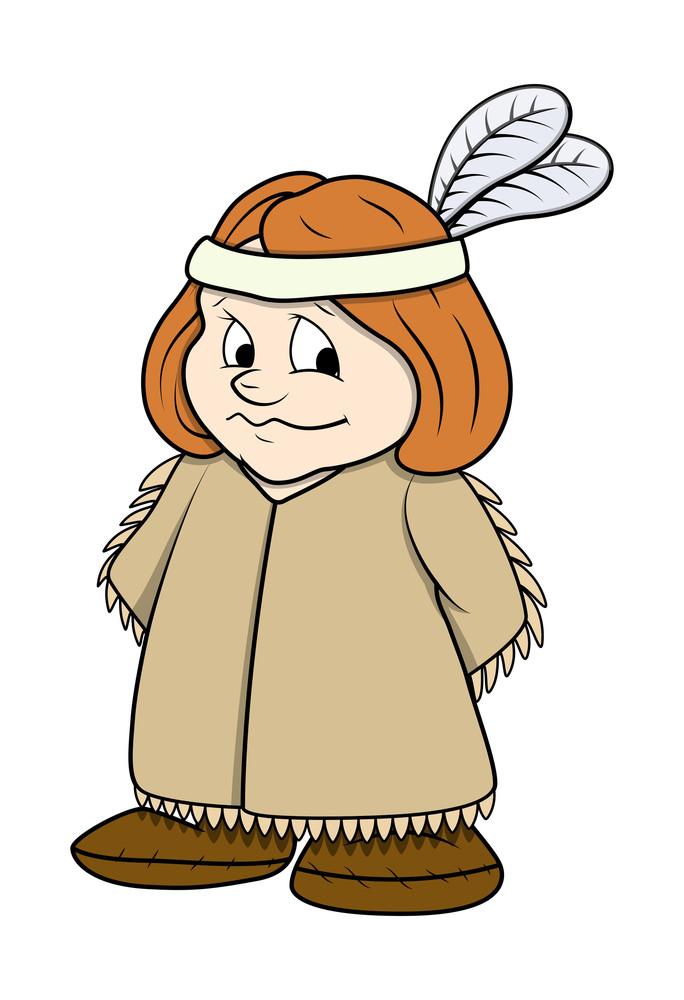 Cute Cartoon Girl Character