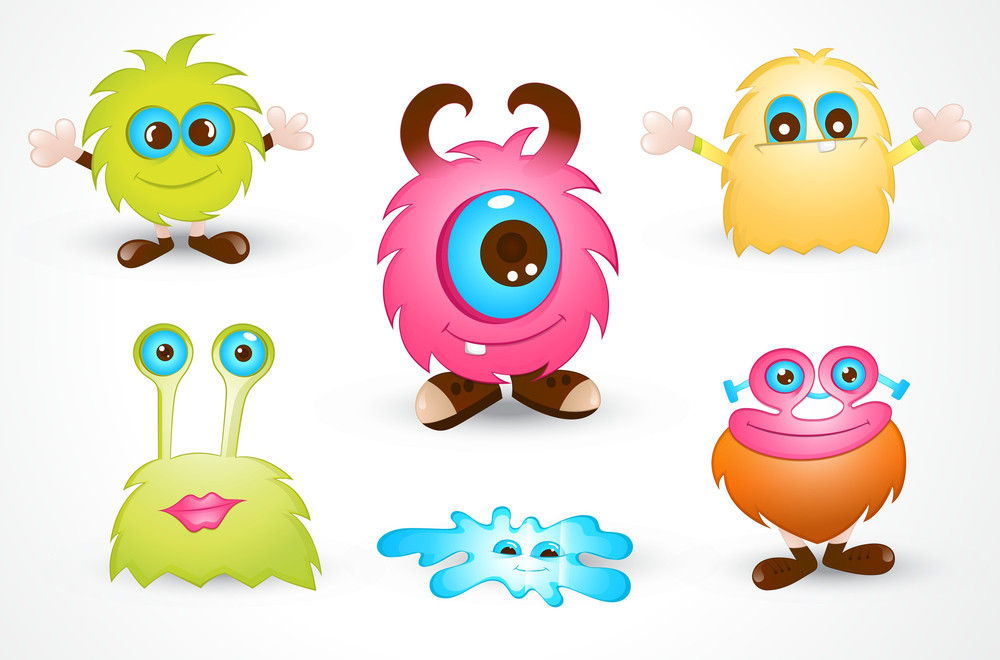 Cute Cartoon Monster Vectors