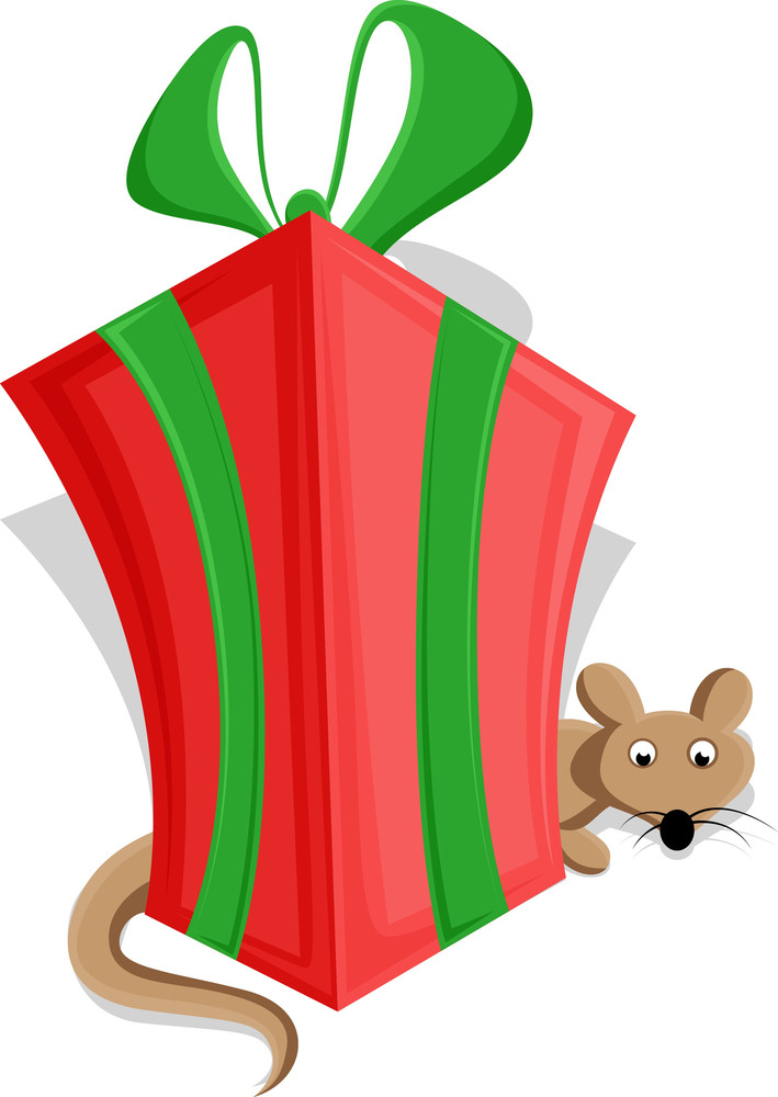 Cute Christmas Gift Box Vector