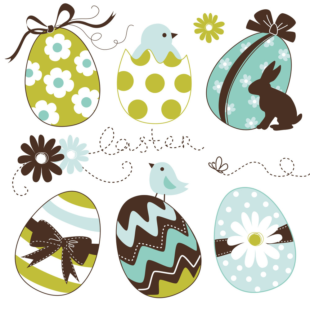 Cute Easter Egg Set