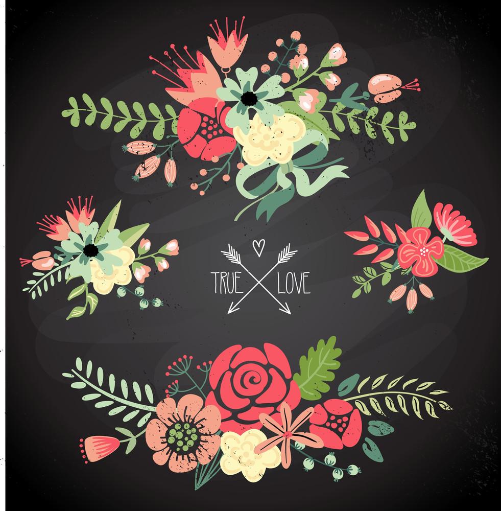 Nette Blumensträuße