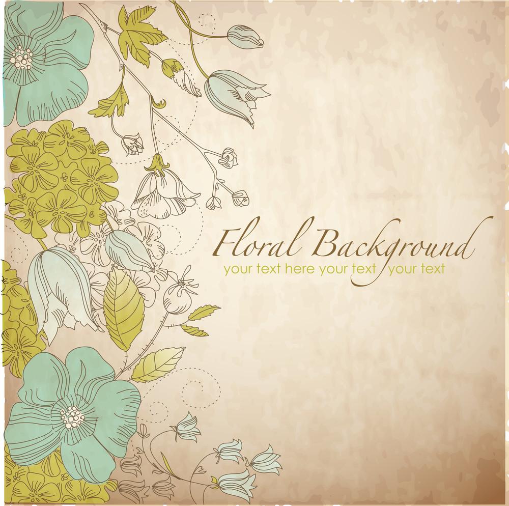 Cute Floral Greeting Card